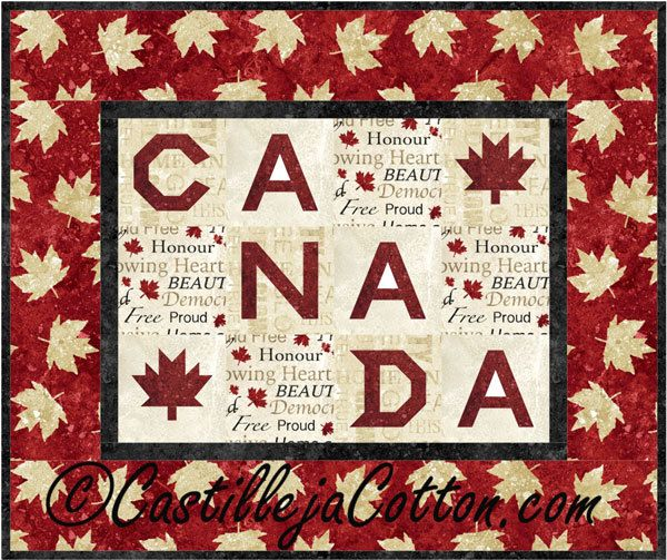 Canada Quilt Pattern Fabrics: www.northcott.net Stonehenge Oh Canada