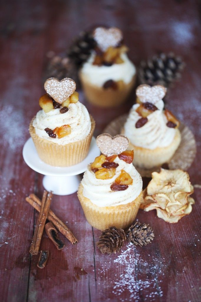 Bratapfelcupcakes /baked apple cupcakes
