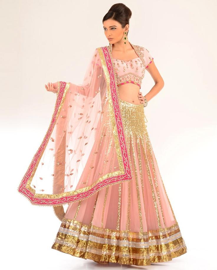 pink bridal lehenga - monika nidhii #indianwedding #shaadibazaar