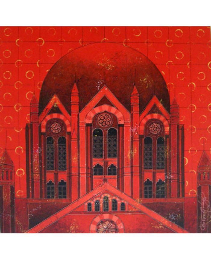 Red Tower Print By Suresh Gulage