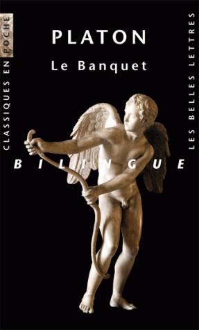 Platon, Le Banquet. Allongés sur leurs lits de banquets, Agathon le poète, Alcibiade, le « beau militaire », Aristophane, le dramaturge, Socrate et leurs amis s'entretiennent, durant une longue nuit, de l'amour, Éros : d'où vient-il ? A quoi conduit-il ? Faut-il en faire l'éloge ou le blâmer ? http://www.lesbelleslettres.com/livre/?GCOI=22510100760830#