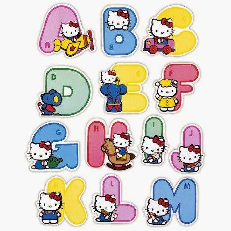 Alfabeto de Hello Kitty.