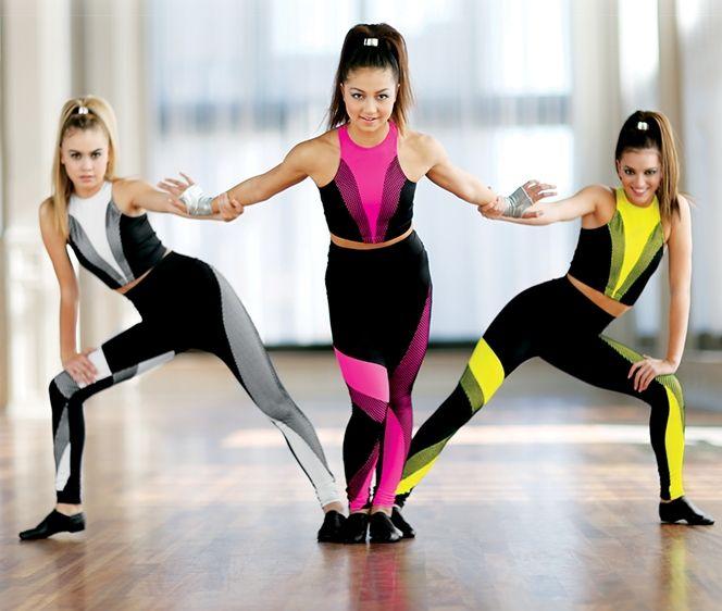 New! Sport Mesh Inset Crop Top and Leggings
