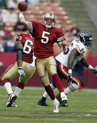 "Jeff Garcia ""Greatest Stampeder QB"". One of the main players why I started rooting for the niners ✌️"