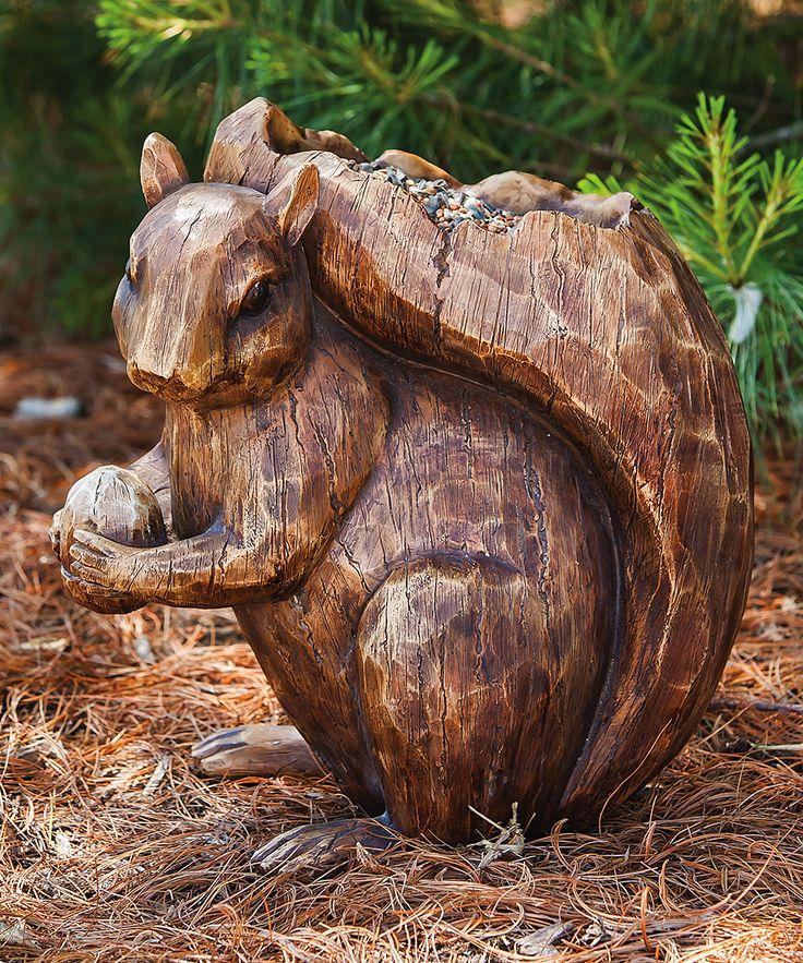 Squirrel Bird Feeder Statue