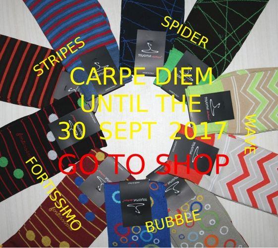 CARPE DIEM  promo fino al 30_Sept_2017 calze in super offerta: STRIPES - WAVE - BUBBLE - FORTISSIMO - SPIDER vai allo shop : https://www.piranda-clothes.com/negozio/