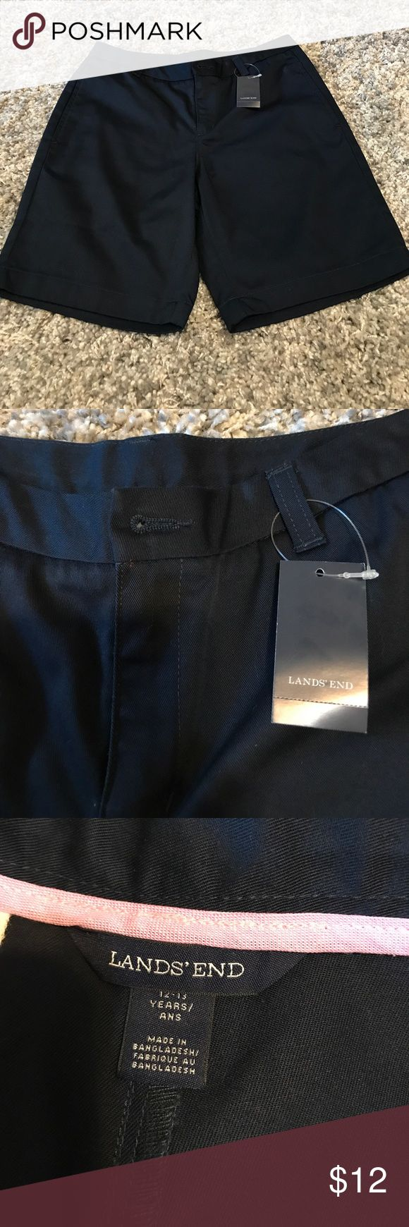 NWT Lands End Kids 12-13 Years Navy Uniform Shorts Uniform shorts new with Tags! Reasonable offers accepted. Bundle for a private discount! Lands' End Bottoms Shorts