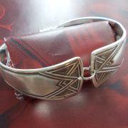 Besteck Schmuck Armband Gabel Löffel silber Magnet Art Deko WMF BSF OKA Wilkens R&B Wellner gefertigt von Marion Heine Soulous Art
