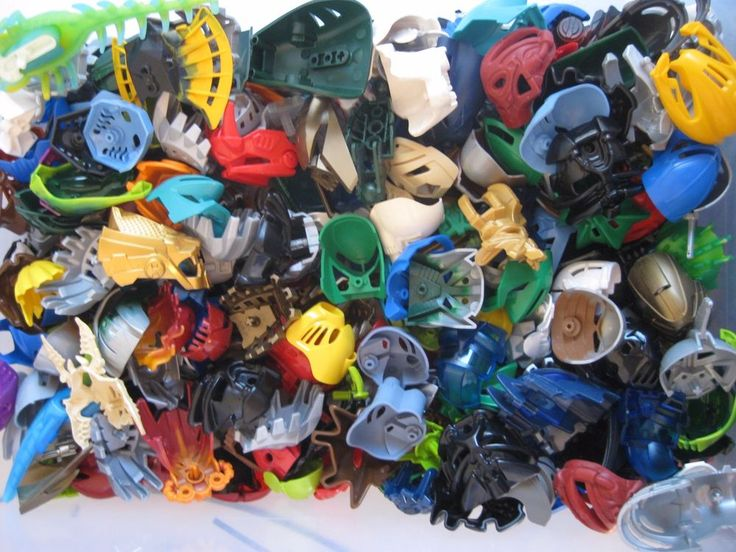 Lego Bionicle Hero Factory MASK LOT of 10 RANDOM PIECES from lot shown #LEGO