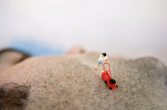 The slowest shave ever. #miniature #photography #art