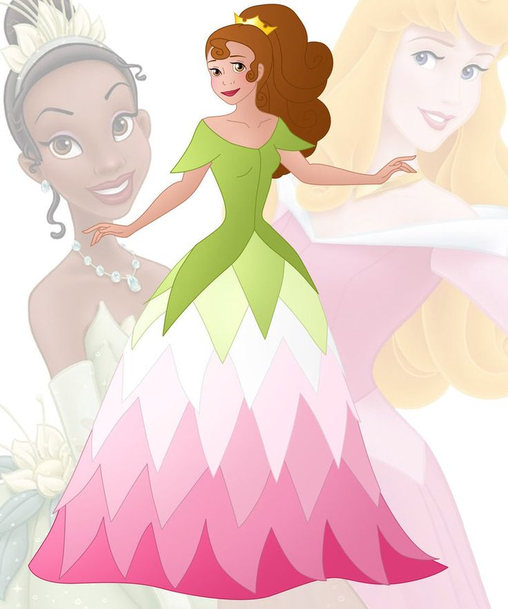 A new series in which I mix 2 disney princesses into 1 This is a mix of Aurora and Tiana, her name is Rianna Hope you like her Other combinations:  Anna + Ariel : willemijn1991....
