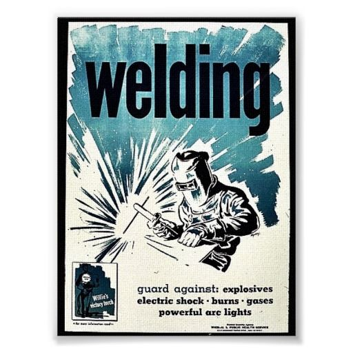 Welding Poster(job i would like to have)