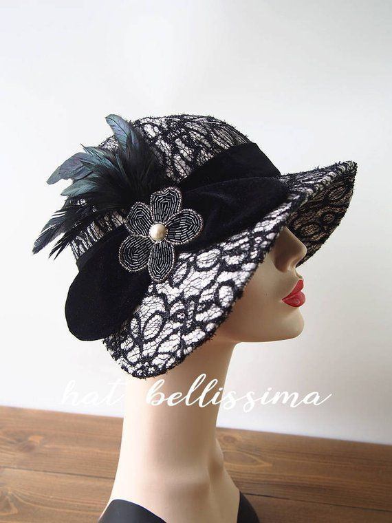 67c8e05b8 1920's Hat Vintage Style hat winter Hats hatbellissima ladies hats ...