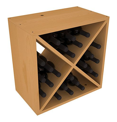 Karnes Pine X-Cube 24 Bottle Tabletop Wine Rack