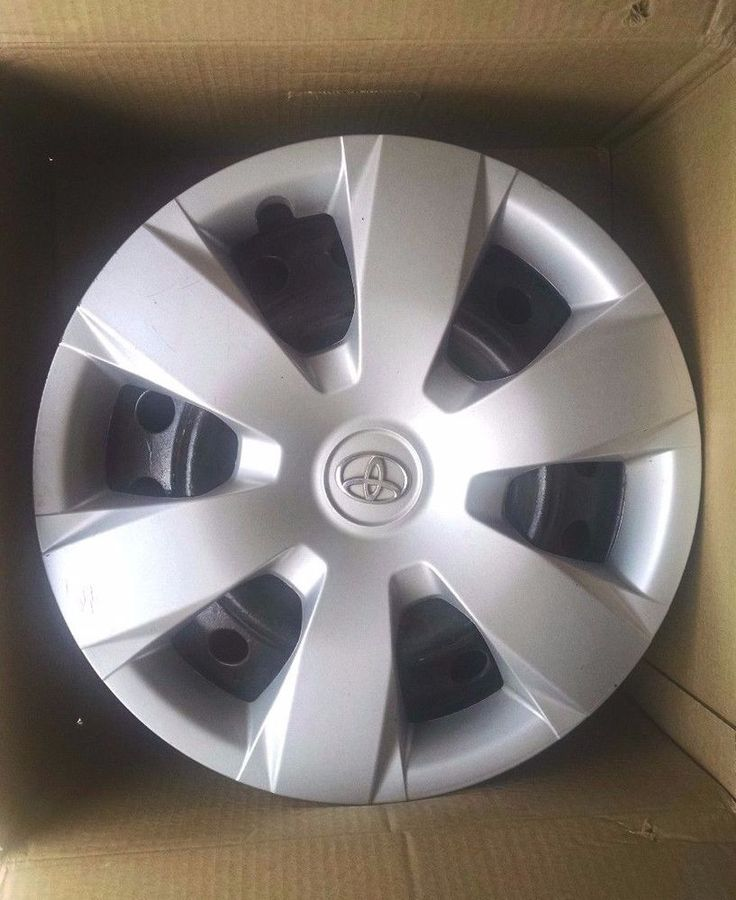 2007-2011 SET OF FOUR TOYOTA CAMRY 16'  BLACK STEEL WHEELS AND HUB CAPS !!! #Toyota
