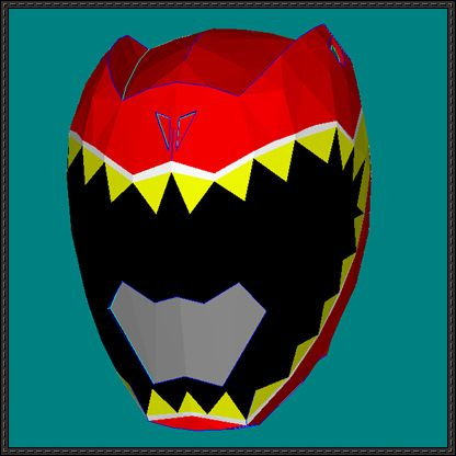 Power Rangers - Kyoryu Red's Helmet Papercraft Free Template Download - http://www.papercraftsquare.com/power-rangers-kyoryu-reds-helmet-papercraft-free-template-download.html