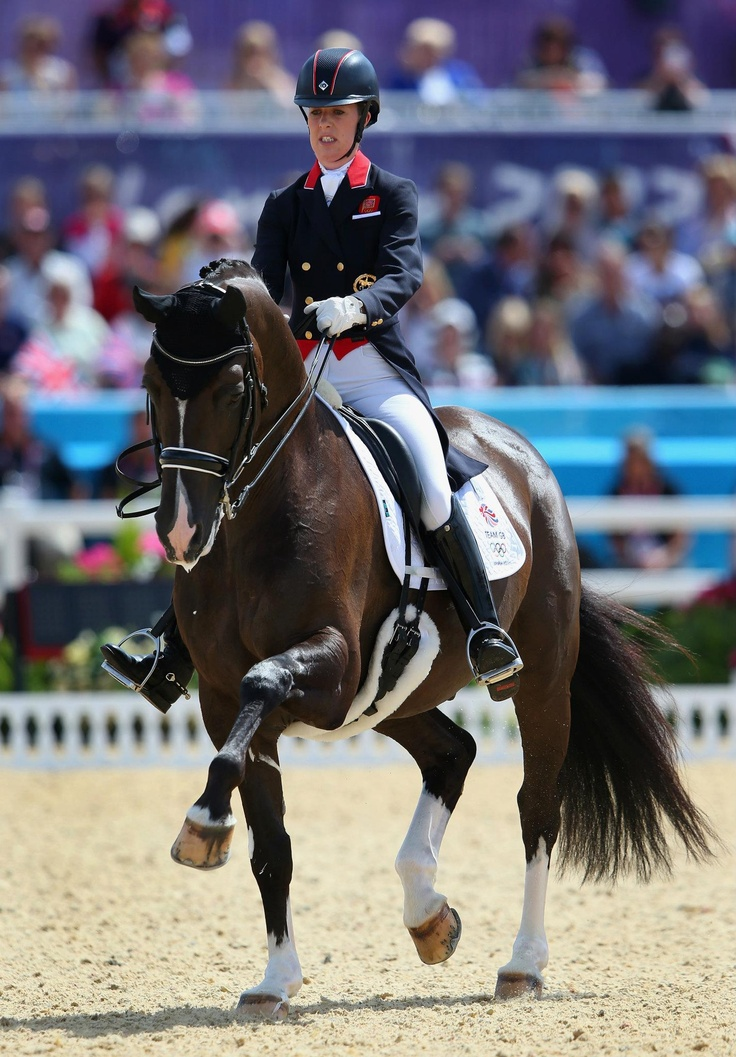 Day seven: Charlotte Dujardin of Great Britain riding Valegro competes in the Dressage Grand Prix.