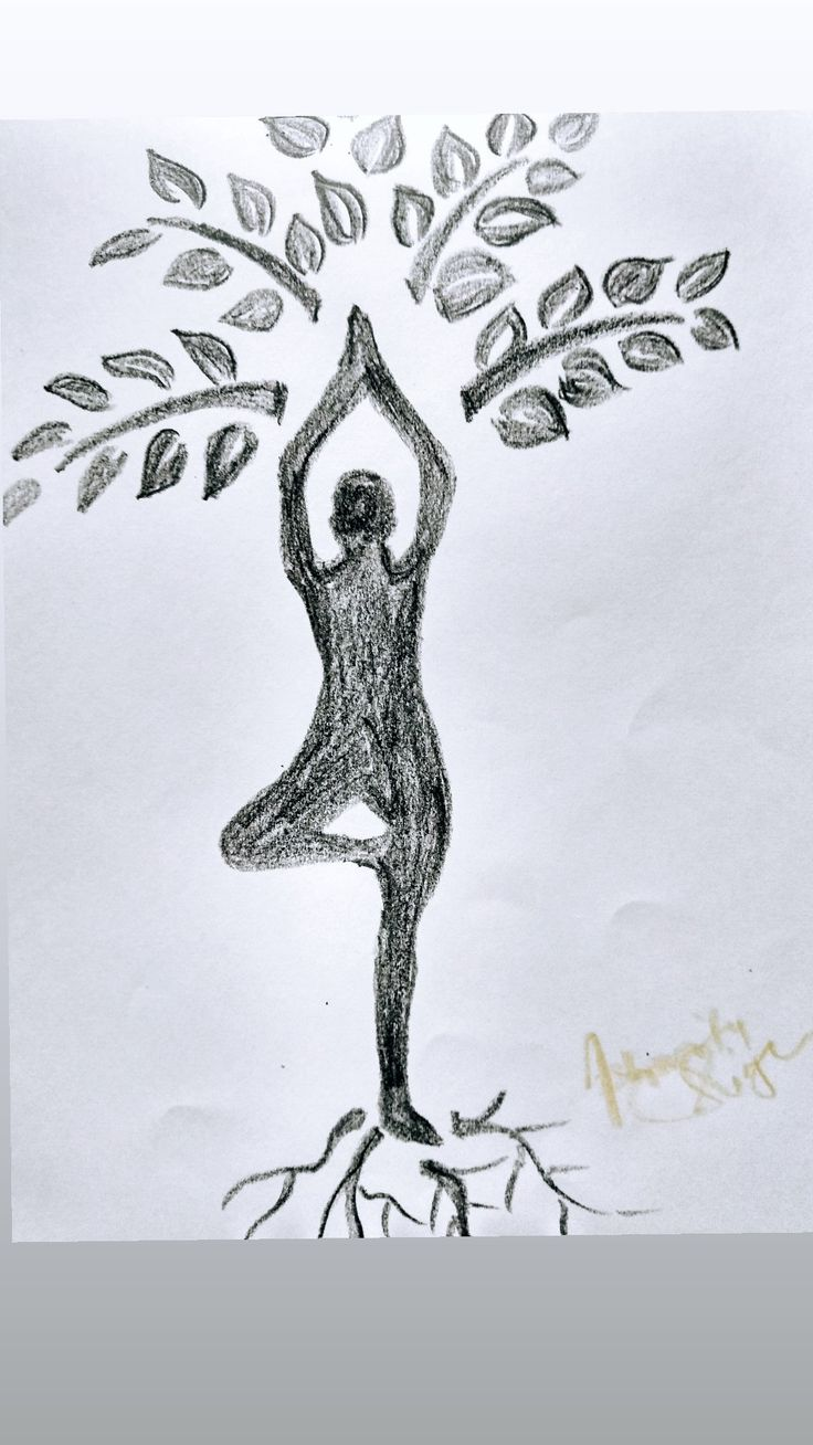 yoga drawing drawings easy simple aasan birthday animals moose animaux try projects
