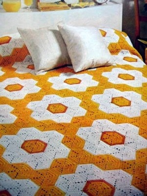 Grandmother's Flower Garden Afghan Crochet Pattern Great for Gifts Scraps | eBay