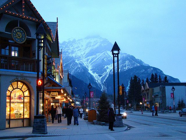 Banff, Alberta. I fell in love with this quaint little resort town the very first time I saw it. It's got it all - great food, relaxing resorts, phenomenal skiing, and nearby Lake Louise is one of the most beautiful places you'll ever see.