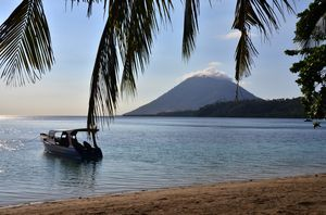 View from Pantai Liang one of the beaches from Pulau Bunaken by Ivonne Peupelmann Photography