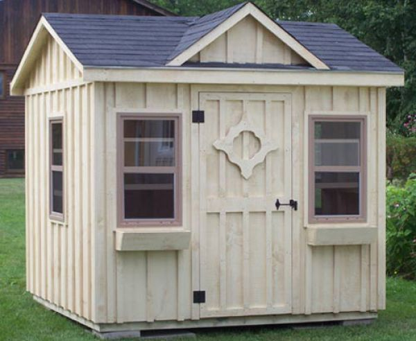 "Garden Sheds 8x8 103 8x8' garden shed. made with 2x4"" wall studs and rafters 24"" o"