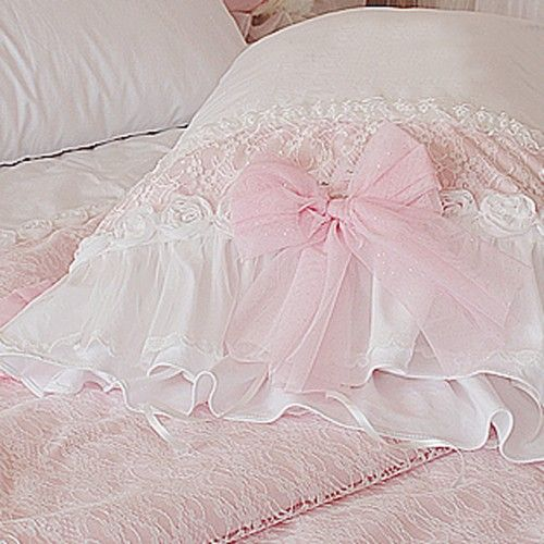ruffle bedding | Frances Lace Duvet Cover Set