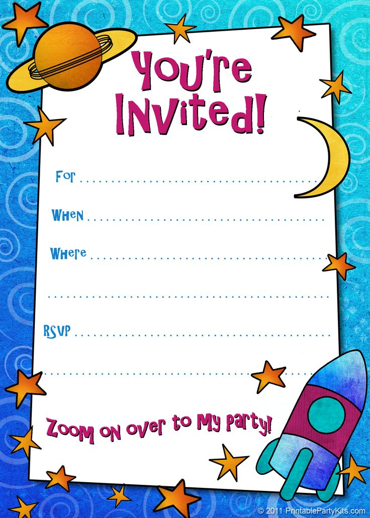 free printable boys birthday party invitations