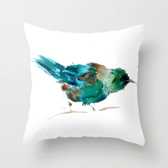 Tui Tuesday Throw Pillow by Art By Chrissy Taylor - $20.00