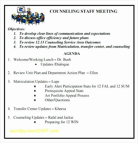 Weekly Staff Meeting Agenda Unique Staff Meeting Agenda Template