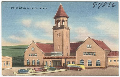 Union Station, Bangor, Maine by Boston Public Library, via Flickr