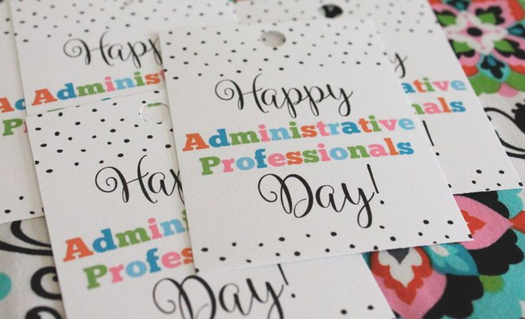 Free Printable Administrative Professionals Day Gift Tag...Just Make Stuff Blog