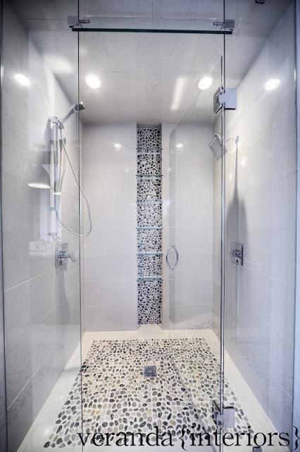 Best 25 pebble tiles ideas on pinterest - Bathroom tile vertical stripe ...