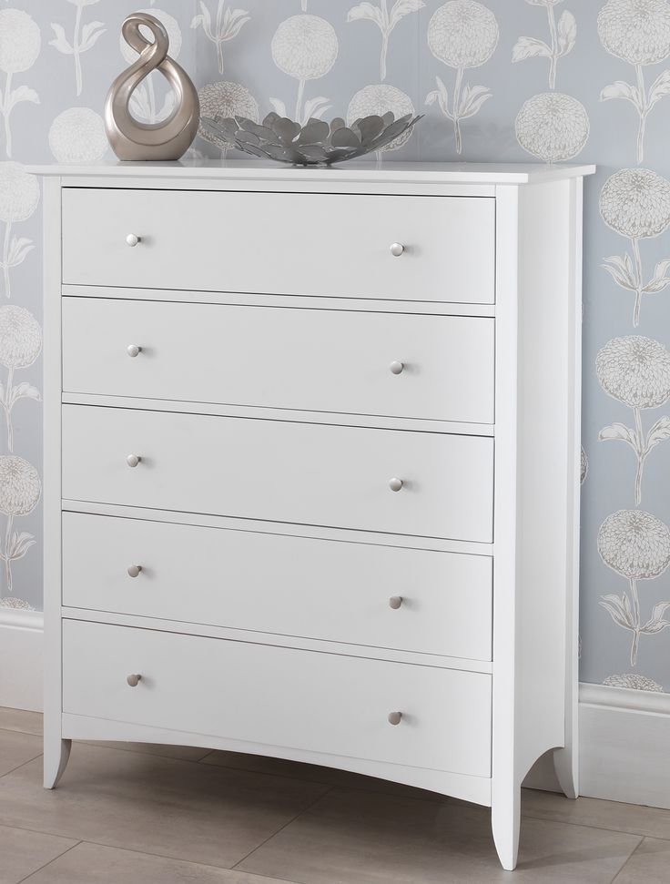 70cm Wide White Chest Of Drawers