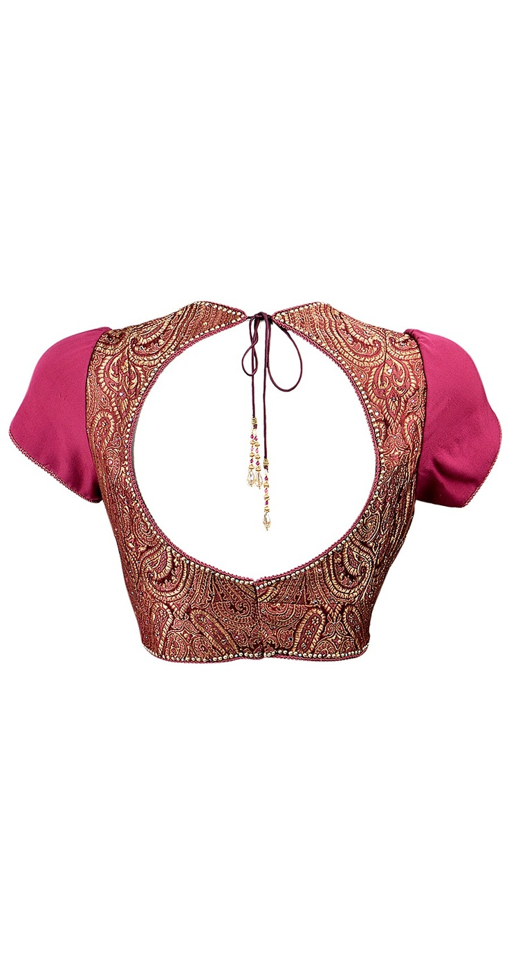 Tarun Tahiliani Open Back Choli Blouse