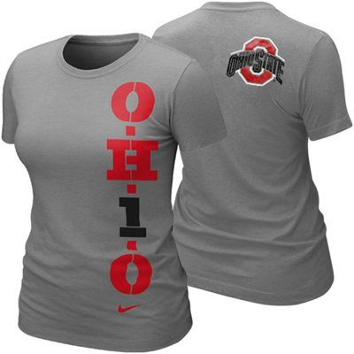 Nike Ohio State Buckeyes Ladies My School Local T-Shirt - Ash