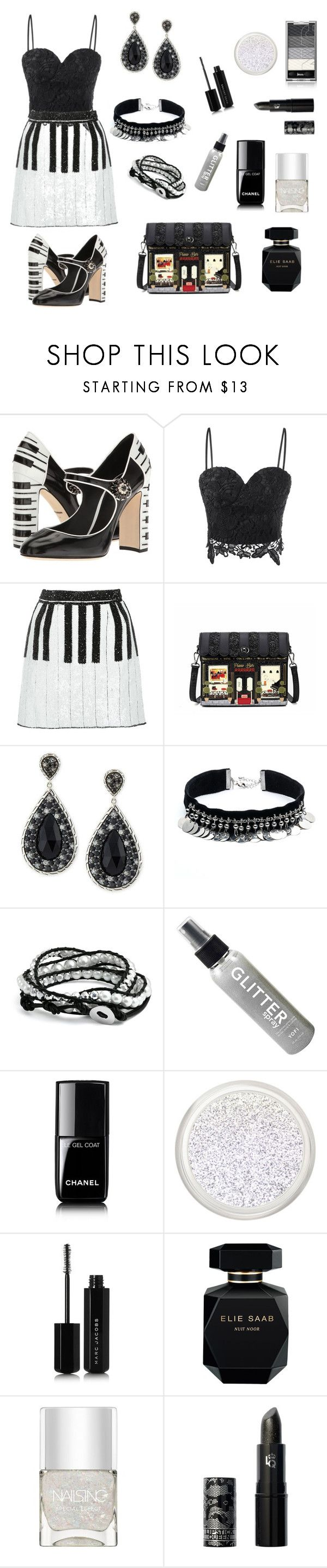 Piano Bar by siriusfunbysheila1954 on Polyvore featuring Dolce&Gabbana, John Hardy, DANNIJO, Bling Jewelry, Lipstick Queen, Marc Jacobs, Elie Saab, Chanel and Nails Inc.