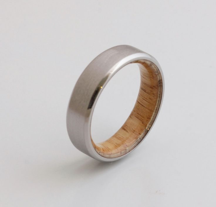 Titanium and white oak Rings // Mens Wood Rings //wood Wedding Band //Men's wedding Band // beveled edge by dimaltagioielli on Etsy https://www.etsy.com/listing/471512532/titanium-and-white-oak-rings-mens-wood