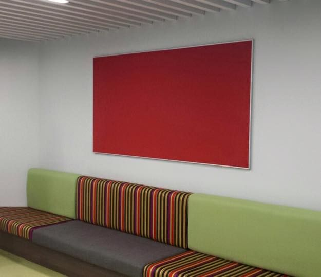 office pinboard. loving our new forbo bulletin board colour hot salsa used for the pin in sydney office foyer of police bank stunning choice compliments pinboard