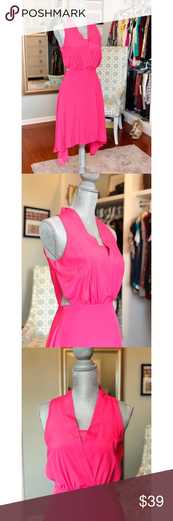 Walter Baker dress! Brand new pink asymmetrical dress by Walter Baker! Very flowy and lightweight with unique cut outs on sides. Size XS. NO trades. Bundle for additional discounts! W118 by Walter Baker Dresses Asymmetrical