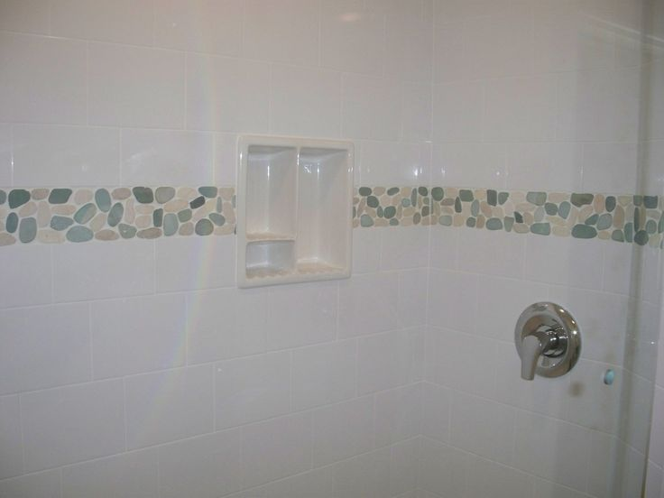 Bathroom Tiles And Borders 398 best shower pebble tile and stone tile ideas images on