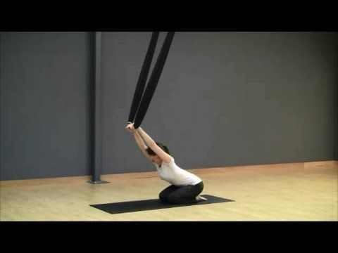 AeroZen Aerial Yoga: Yummy stretches and strengthening flow - YouTube