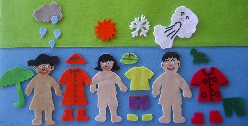 26 Piece Weather Season Children Flannel Board Felt Story Set