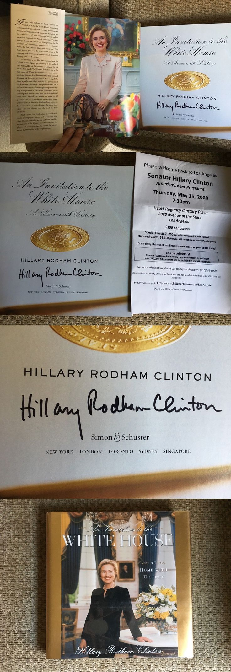 Hillary Clinton: Hillary Clinton Signed Autographed Book From 2008 Autograph Colorful Book!! -> BUY IT NOW ONLY: $19.99 on eBay!