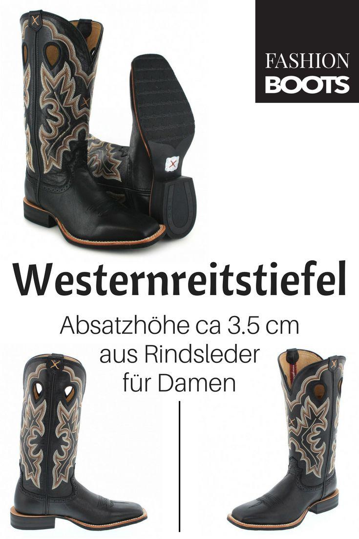 Twisted X Boots RUFF STOCK 1781 Black Westernreitstiefel - schwarz Modischer Damen   Westernreitstiefel aus der Twisted X Silver Buckle Kollektion