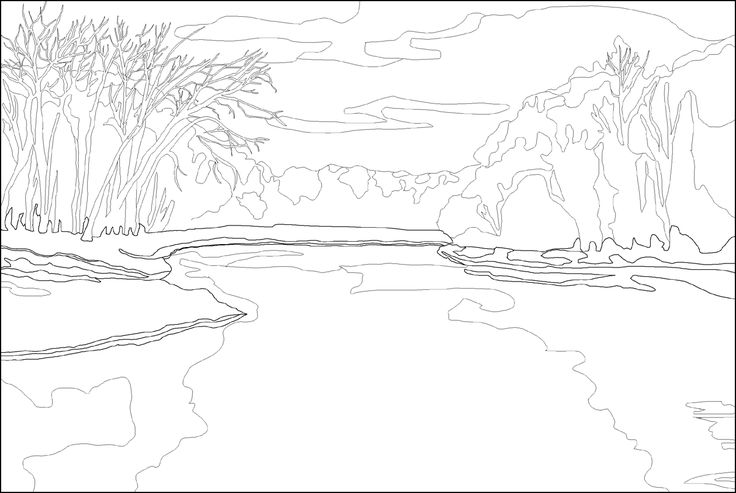 coloring pages i find decent ! white river winter #2 (
