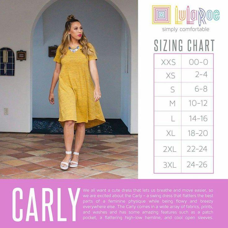 Carly size chart