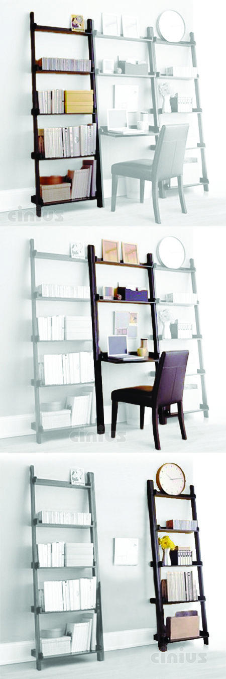 [Libreria Yat] Composta di 3 moduli acquistabili singolarmente, è l'angolo studio salvaspazio adatto sia al salotto sia alla camera da letto! In legno massello di faggio. (Made by 3 modules that can be purchased individually, it is the saving-spacing work space suitable for both the living room or the bedroom! Made of solid beech wood.) #Cinius #bookcase