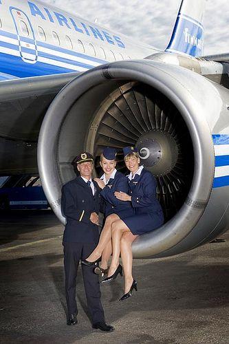 stewardesses in engine, via Flickr.