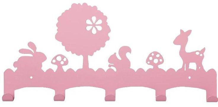 Engeltjes & Draken | Eina Design | Kapstok woodland roze #kapstok #roze #pink #kinderkamer #woodland #babykamer #meisjeskamer #wandhaken  #engeltjesendraken #leiden